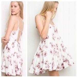 Brandy Melville Jada Floral Cherry Blossom Dress